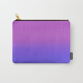 Gradient Hexagon Pattern Carry-All Pouch