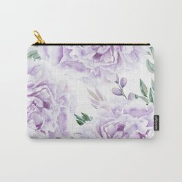 Pretty Purple Flower Garden Carry-All Pouch