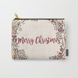 Merry Christmas Wreath Carry-All Pouch