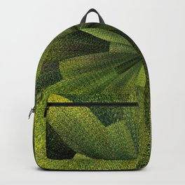 Geometric Green Burst Backpack