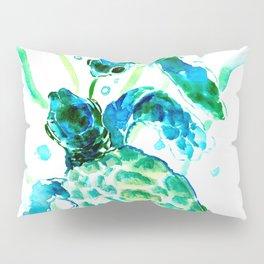 Sea Turtles, Turquoise blue Design Pillow Sham
