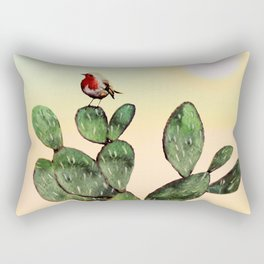 Cactus and a Bird Rectangular Pillow