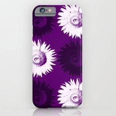 Sunflower black, white and purple iPhone 6s Slim Case