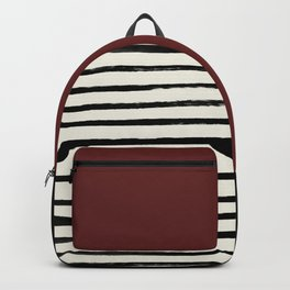 Dark Ruby & Stripes Backpack
