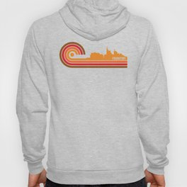 Retro Style Frankfort Kentucky Skyline Hoody