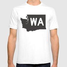 SEATTLE WASHINGTON//FIVE Mens Fitted Tee MEDIUM White