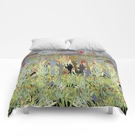 Zombie Garden Wall Comforters