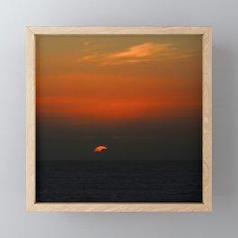 cloudy sunset seascape Framed Mini Art Print