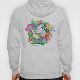 bunny and flowers pattern Hoody