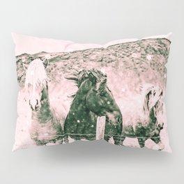 Southwest Horses Black and White Pillow Sham