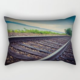 Tracks By the Lake Rectangular Pillow