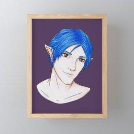 Blue Framed Mini Art Print