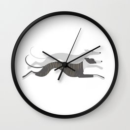 Flying Whippets Wall Clock