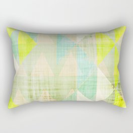 neon art, geometric print, modern painting, mid century art, abstract art, modern art Rectangular Pillow