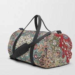 Antique Red Blue Black Persian Carpet Duffle Bag