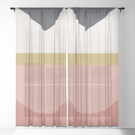 Maximalist Geometric 03 Sheer Curtain