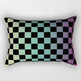 Color Gradient Checker Pattern Rectangular Pillow