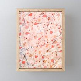 peachy marble (teenage room) Framed Mini Art Print