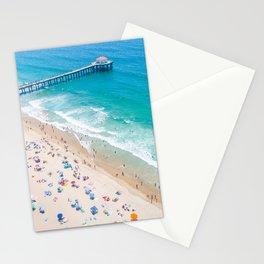 Manhattan Beach Drone Shot Stationery Cards
