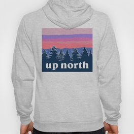 up north, pink hues Hoody