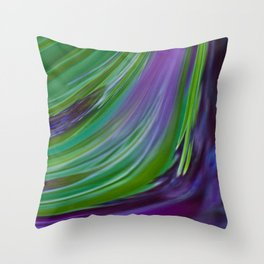 Purple Green Contemporary Abstract Throw Pillow
