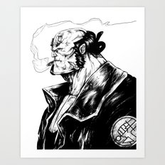 Right Hand of Doom (Ink) Art Print