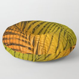 TROPICAL LEAVES GREEN MOCCA no2 Floor Pillow