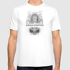 Amalgamation #4 MEDIUM Mens Fitted Tee White