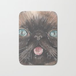 Der the Cat - artist Ellie Hoult Bath Mat