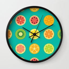 SLICE - Citrus Wall Clock