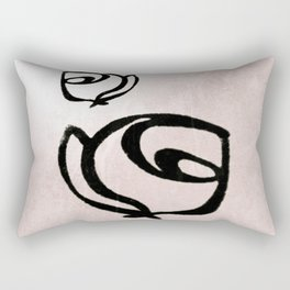 Flowers, Mother-Daughter, Pink Rectangular Pillow