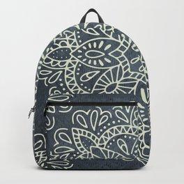 Mandala Vintage Ivory Blue Backpack