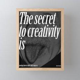 albert einstein quote, typography art Framed Mini Art Print