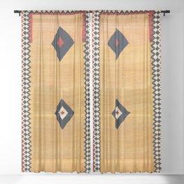 Qashqa'i Fars Southwest Persian Kilim Print Sheer Curtain