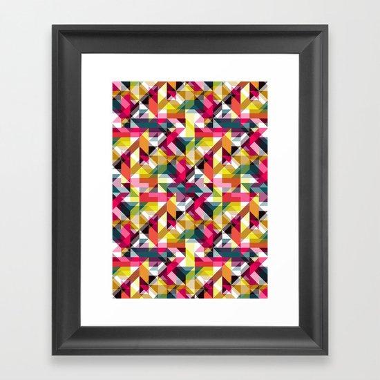 Aztec Geometric VII Framed Art Print