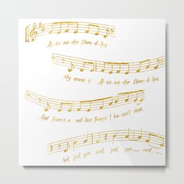 My Name is Alexander Hamilton | Musical Notes Metal Print