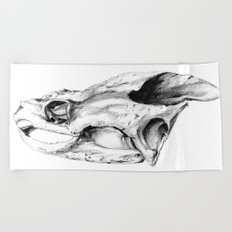Snapping Turtle Skull Beach Towel