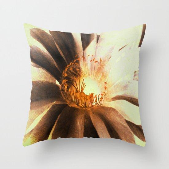 Kaktus Flower Throw Pillow