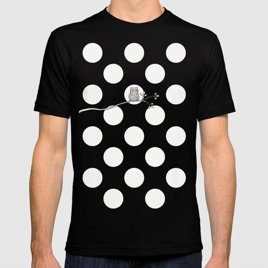 Out on a Limb - Polka Dot Owl Moon T-shirt