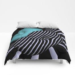 Klein's bottle in Op-Art design Comforters