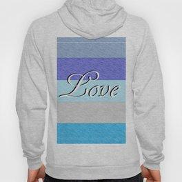 LOVE on Blue Hoody