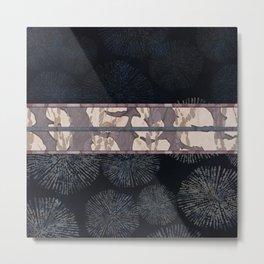 Sea Urchin Contrast Obi Print Metal Print