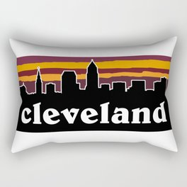 Cleveland Cityscape Rectangular Pillow