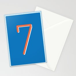 The Lucky Number Seven Stationery Cards
