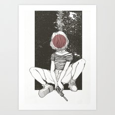 Kill Girl Art Print