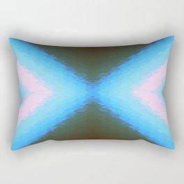 Sky Blue Forest Green Rectangular Pillow