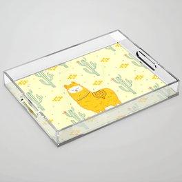 Alpaca summer Acrylic Tray