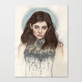 Lorde @ the Oscars Canvas Print