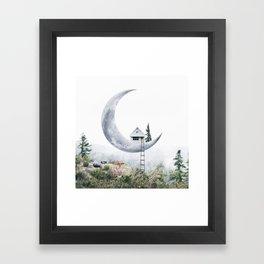 Moon House Framed Art Print