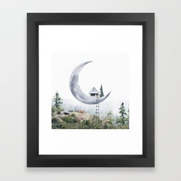 Moon House Gerahmter Kunstdruck